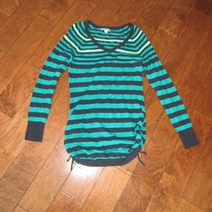 Old Navy Teal Navy Striped Maternity Sweater M